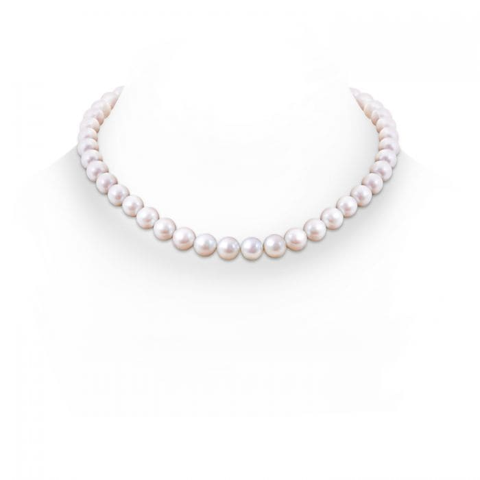 Angara 18 Classic Akoya Cultured Pearl Single Strand Necklace N68XwhFb