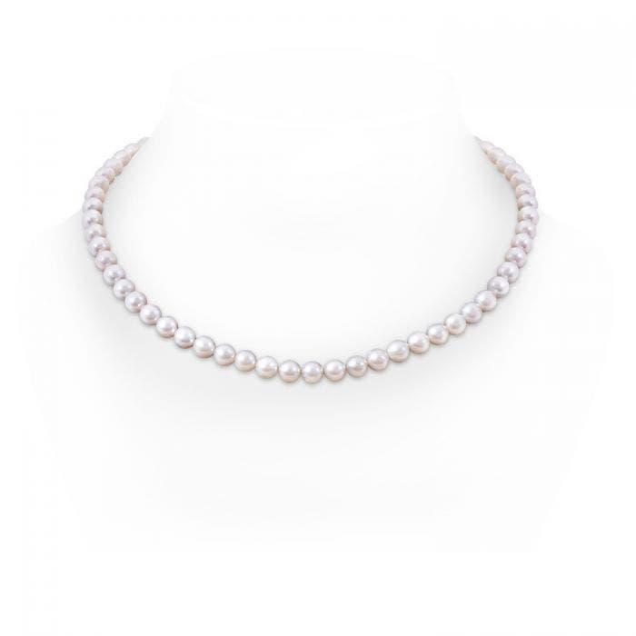 Angara 18 Single Strand Akoya Cultured Pearl Necklace 4csbv
