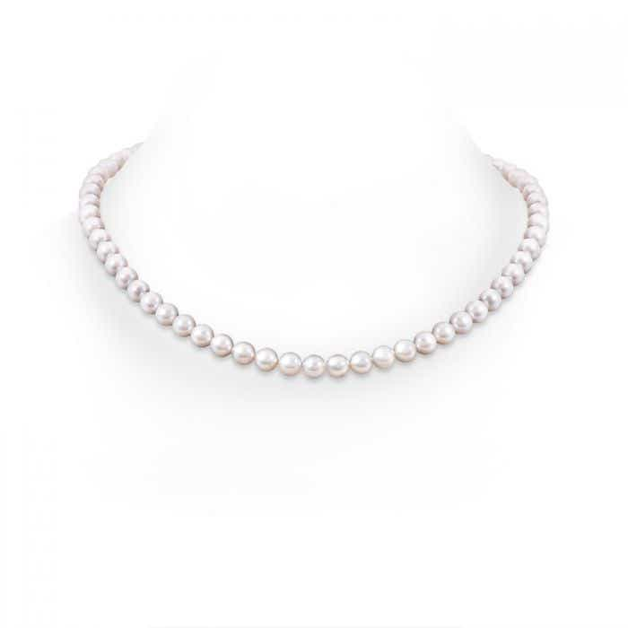 Angara 16 Akoya Cultured Pearl Single Strand Necklace RpZWB