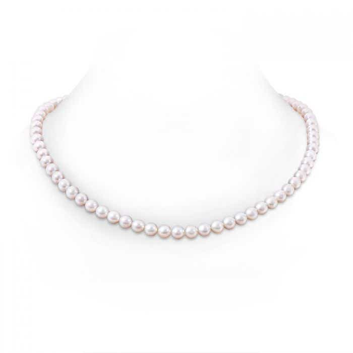 Angara 22 Single Strand Akoya Cultured Pearl Necklace 2Th9z