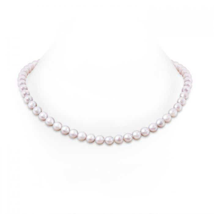 Angara 22 Freshwater Cultured Pearl Single Strand Necklace 4ABfr3agRF