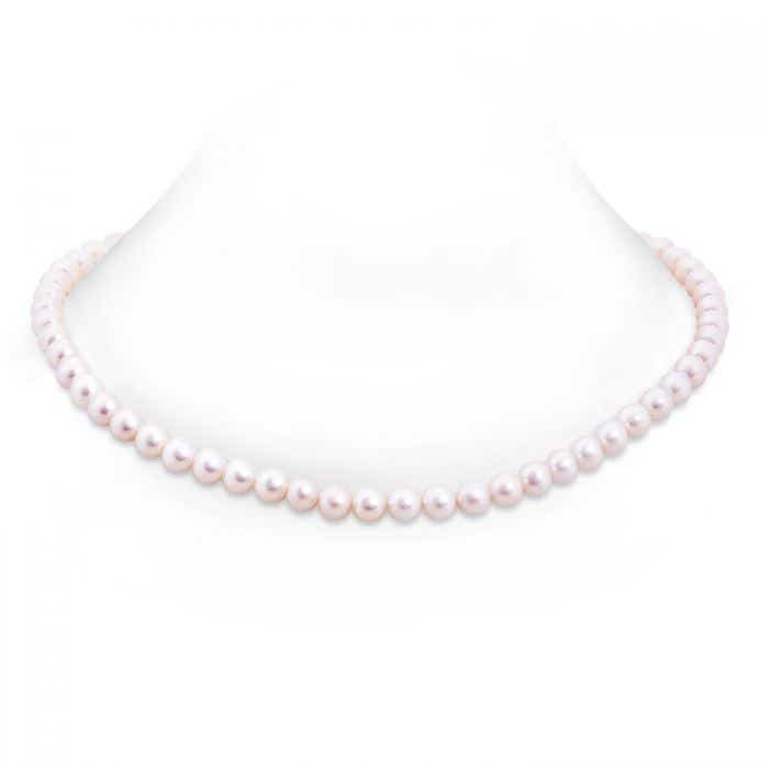Angara 22 Freshwater Cultured Pearl Single Line Necklace ZaPY3UkhCp