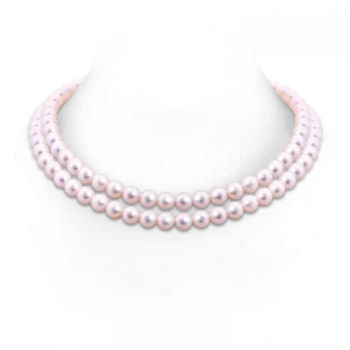 Angara 18 Akoya Cultured Pearl Double Line Necklace YPfg5B
