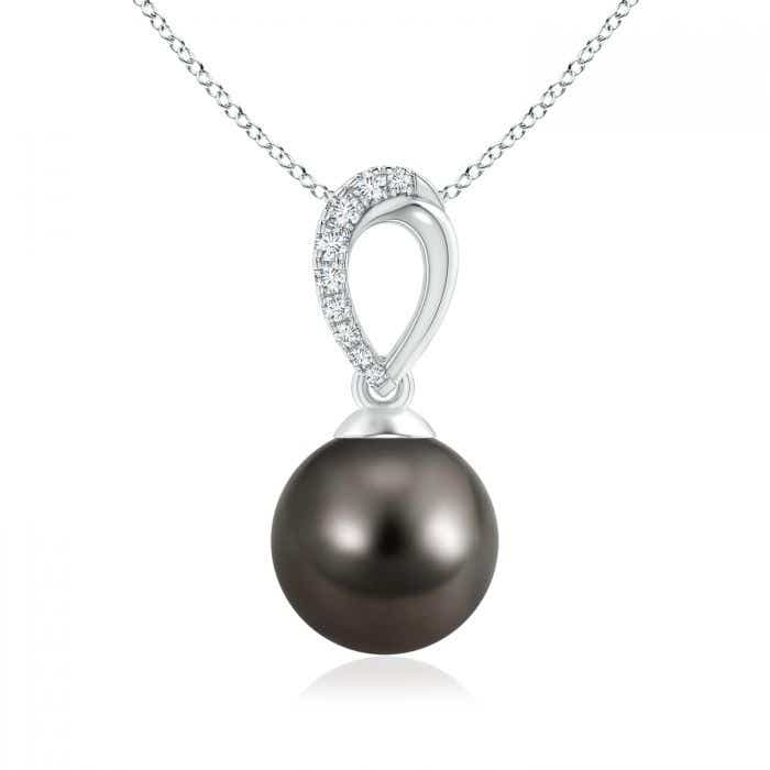 Angara Tahitian Cultured Pearl Pendant with Inverted Pear Bale XLvXC5WlI