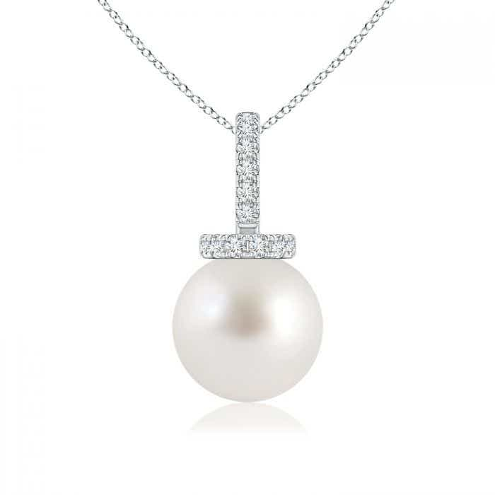 Angara South Sea Cultured Pearl Pendant with Diamond Studded Bale 52JMllM