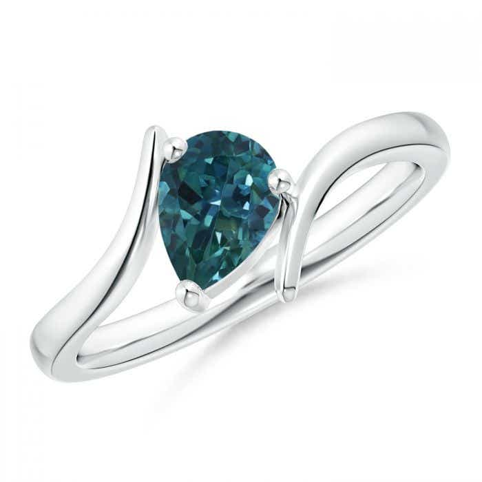Pear Teal Montana Sapphire Pear Shape Natural Unheated Montana Sapphire Teal Blue Teardrop Sapphire for custom Engagement Ring