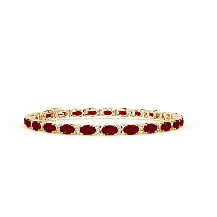 Angara Garnet Tennis Bracelet in Rose Gold 2F7jTis