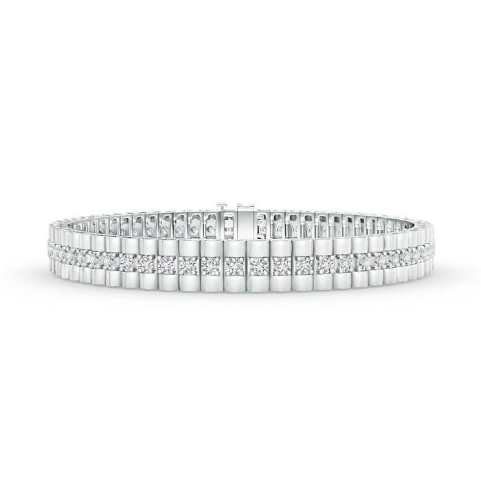 Angara Heart Shaped Motifs Diamond Tennis Bracelet in White Gold rbVavSQh