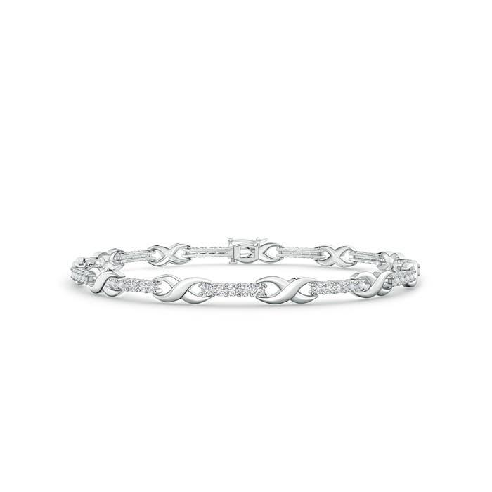 Angara Diamond Infinity Bracelet in White Gold edjpxP