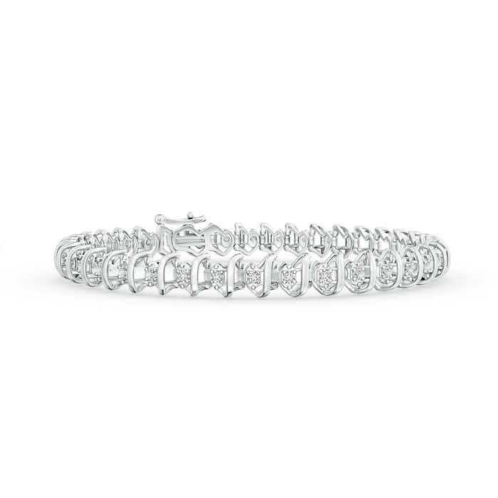 Angara Heart Shaped Diamond Tennis Bracelet in Yellow Gold mzyNFaf