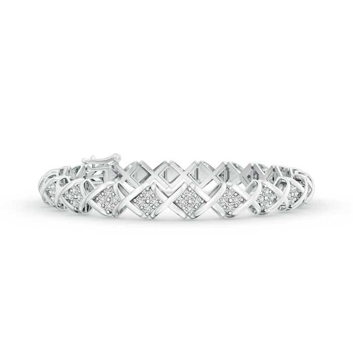 Angara Diamond Infinity Bracelet in White Gold f7tjGU