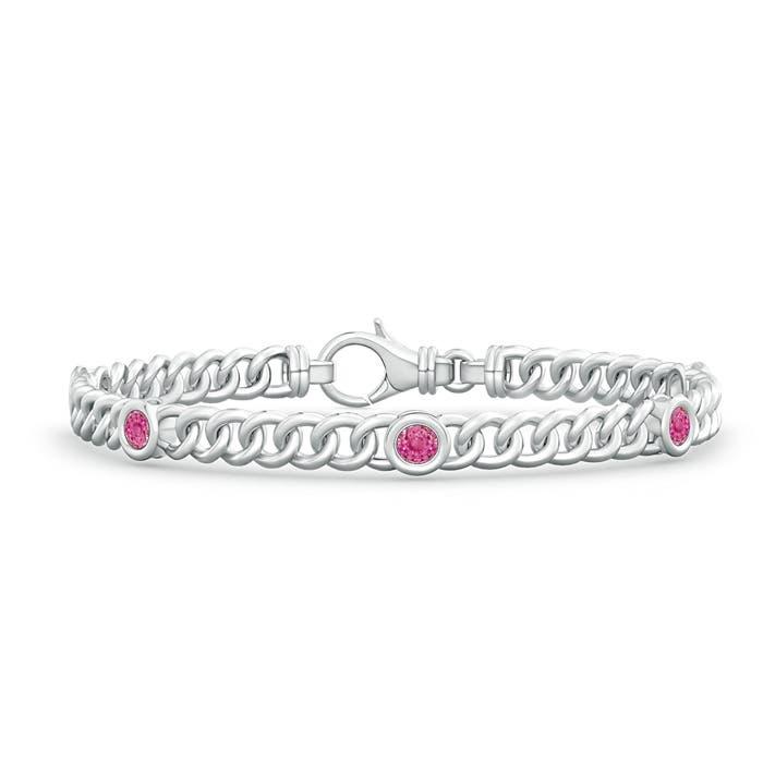 Angara Bezel-Set Pink Sapphire Bracelet in Rose Gold UxgTx9T