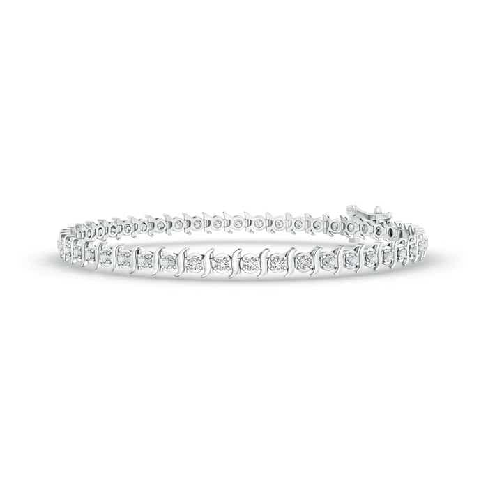 Angara Tennis Bracelet with Diamond in White Gold DArdGV