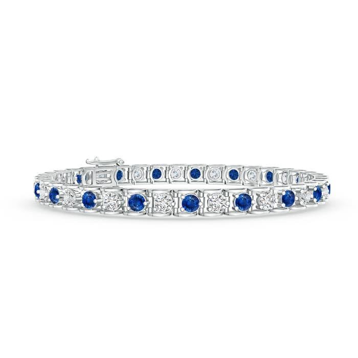 Angara Pink Sapphire Diamond Tennis Bracelet in 14k Yellow Gold uyI6IU