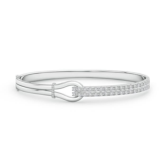 Angara Encrusted Interlocking Love Knot Diamond Bracelet in Yellow Gold KI4XWW