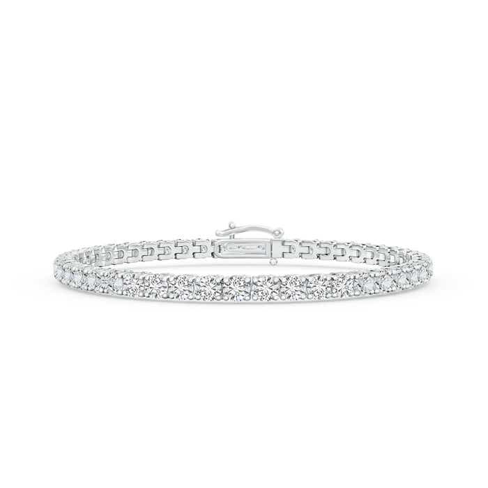 Angara Tennis Style Diamond Eternity Bracelet in White Gold