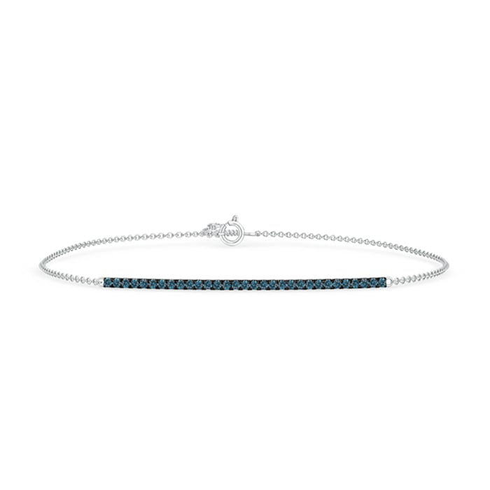 Angara Prong Set Studded Enhanced Blue Diamond Bar Bracelet fyirK8a