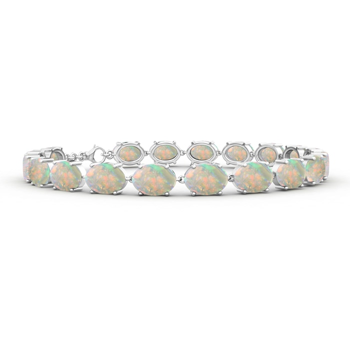 Angara Opal Tennis Bracelet in Yellow Gold