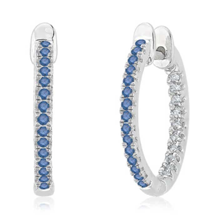 Angara Inside Out Diamond Hoop Earrings in Platinum 8nTHJk9