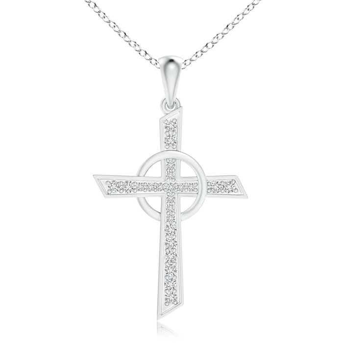 Angara Pave-Set Diamond Infinity Cross Dangle Pendant luYM1