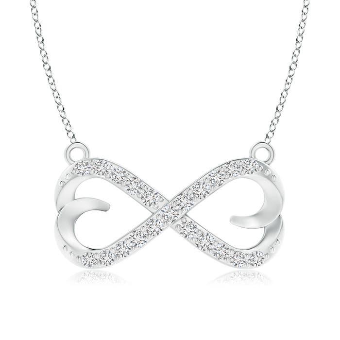 Angara Sideways Infinity Necklace with Gypsy Diamond w1wPX