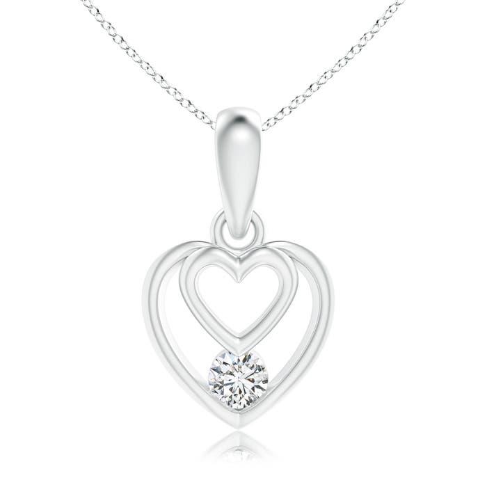 Angara Diamond Slanted Heart Dangle Pendant nLAfXt4Fww