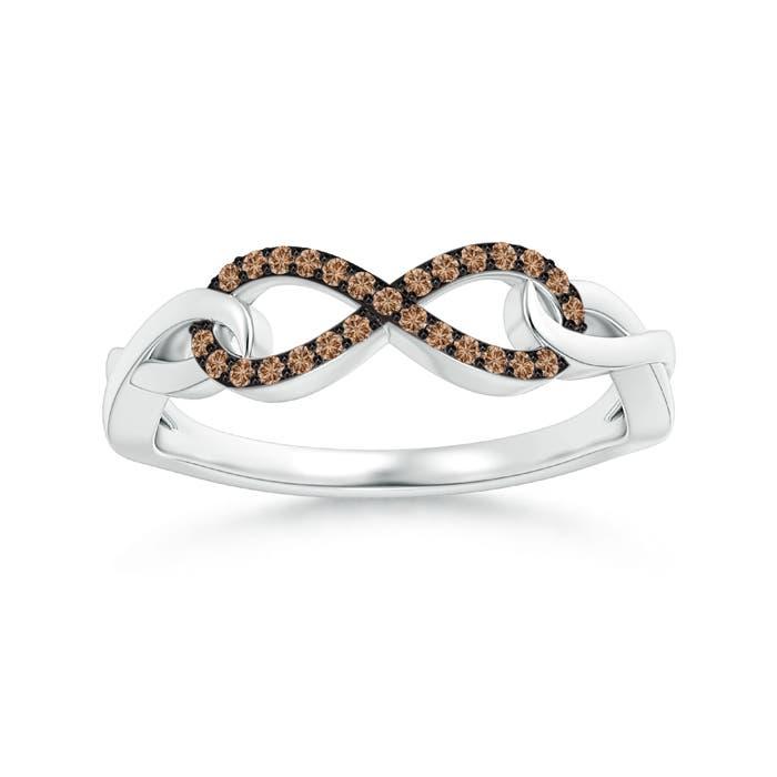 Angara Interlocking Love Knot Diamond Bracelet in Yellow Gold 31tGRap