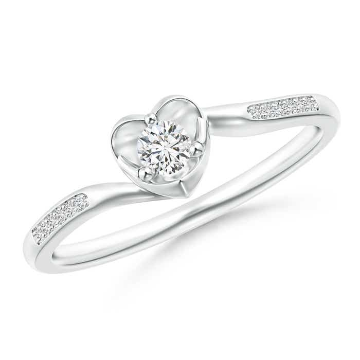 Angara Solitaire Round Diamond Fluted Bypass Ring juYdskJ