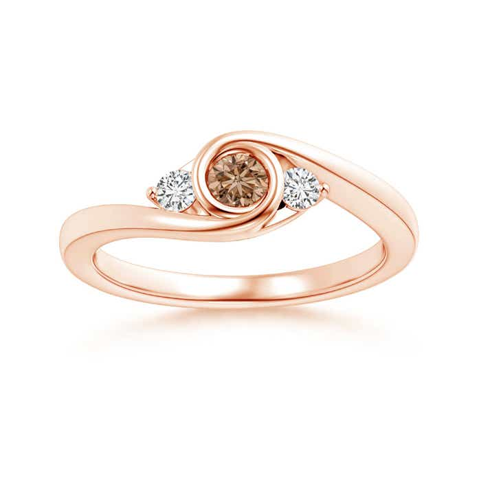 Angara s Brown Diamond Bypass Halo Ring in White Gold kXWePe