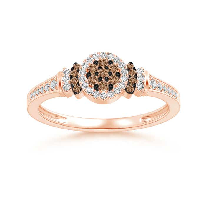 Angara Brown Diamond Collar Engagement Ring in Rose Gold xuYX8noZ