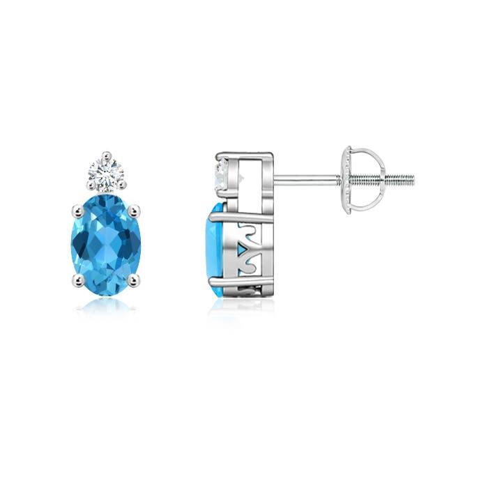 Angara Basket-Set Ruby Stud Earrings in Platinum pac06T