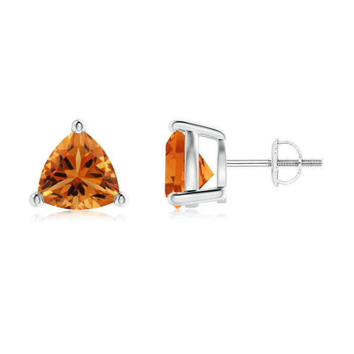 Angara Basket-Set Round Citrine Stud Earrings UmV45MicOz