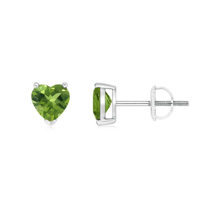 Angara Claw-Set Solitaire Oval Emerald Stud Earrings r6hKnz2