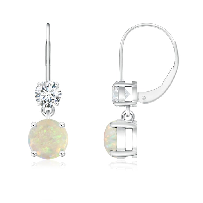 Angara Diamond Leverback Dangle Earrings in Platinum