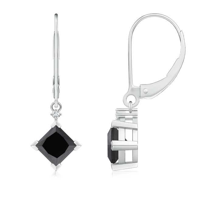 Angara Black Onyx Solitaire Earrings in Rose Gold 2xWZ8JQ1