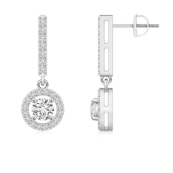 Angara Floating Diamond Dangle Earrings in Platinum tRpacfYf0H