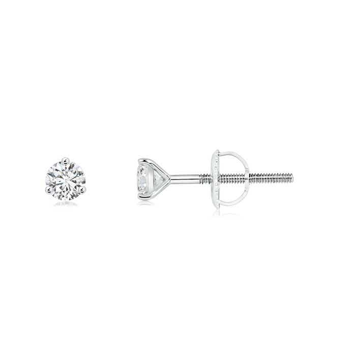 Angara Prong Set Garnet Stud Earrings in Platinum pvTdj
