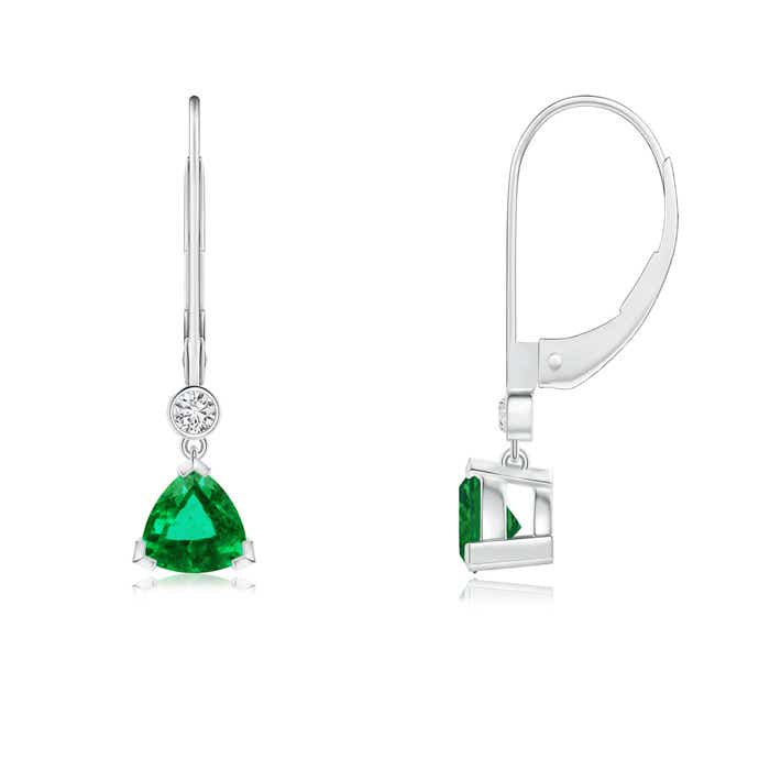 Angara Emerald Leverback Earrings in Rose Gold ghsfDF9ae2