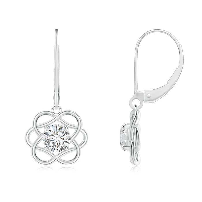 Angara Solitaire Diamond Intertwining Infinity Knot Earrings bjy7Ye66