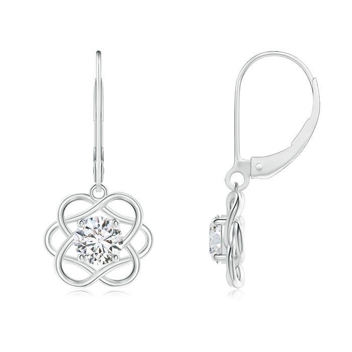 Angara Solitaire Diamond Earrings in White Gold r0avpmwIXp