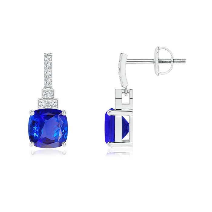 Angara Tanzanite Dangle Drop Earrings in Yellow Gold NGE9PYXT8g
