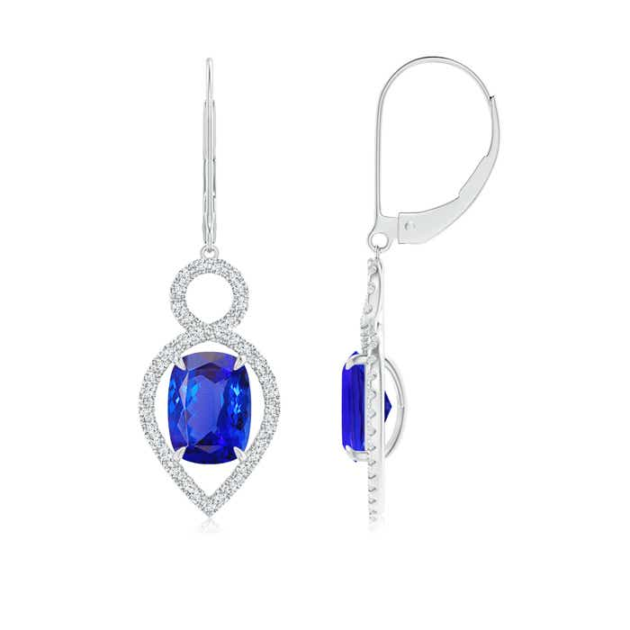 Angara Tanzanite Drop Earrings in Rose Gold oZP2MxAC