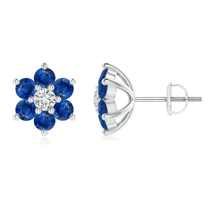 Angara Classic Sapphire Six Petal Flower Pendant Vr4Y9bj