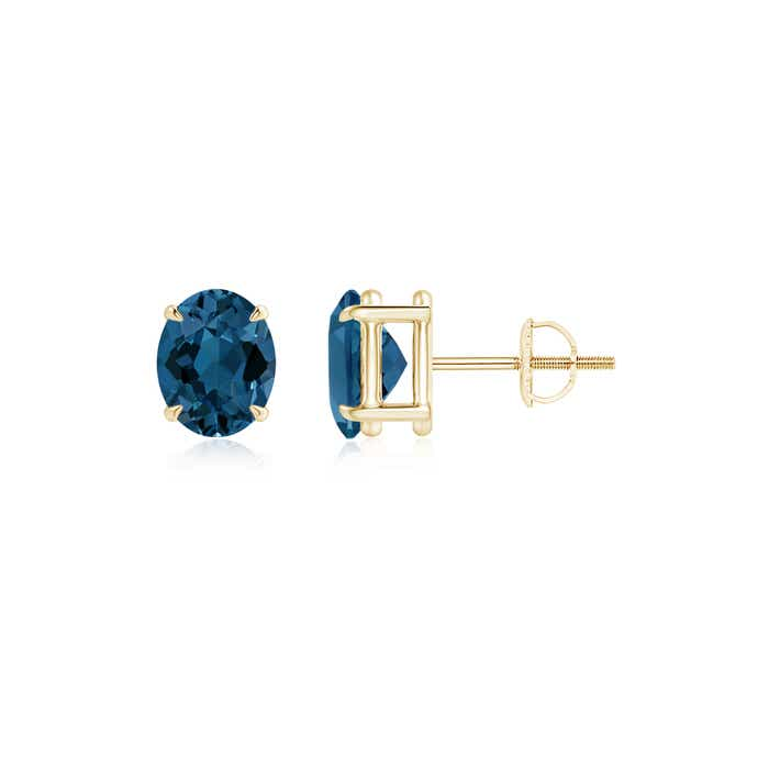 Angara Platinum London Blue Topaz Stud Earrings fr4fi