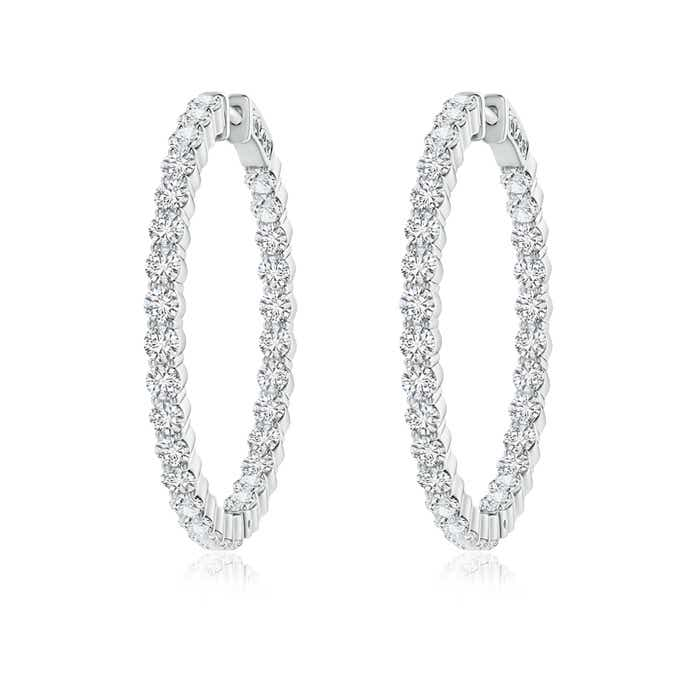 Angara Round Sapphire Inside Out Hoop Earrings Z8Yhd