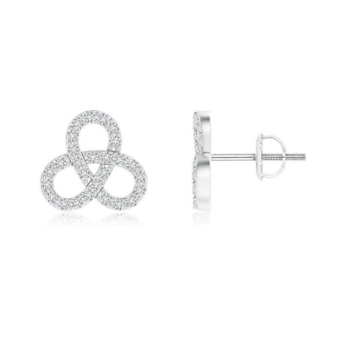 Angara Contemporary Diamond Studded Celtic Knot Stud Earrings ircuWgdLU3