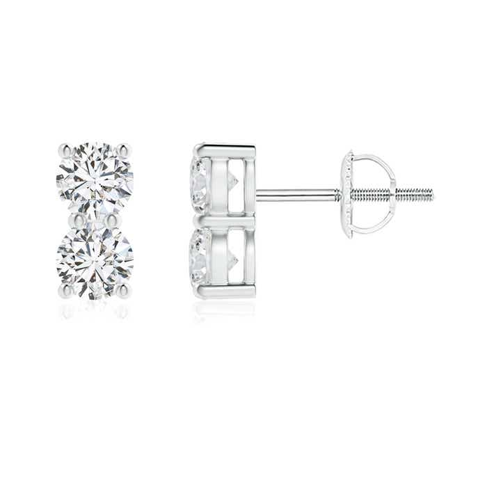 Angara Basket Set Double Diamond Stud Earrings VslQVm7