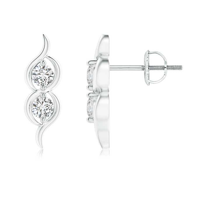 Angara Swirl Two Stone Diamond Infinity Stud Earrings NjTZt2weV