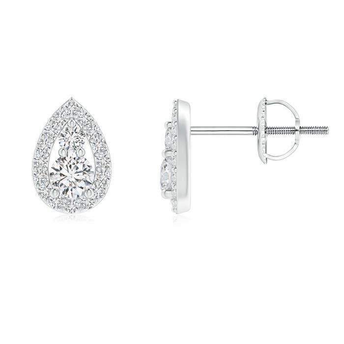 Angara Two Stone Diamond Teardrop Stud Earrings HQ0AyAbW
