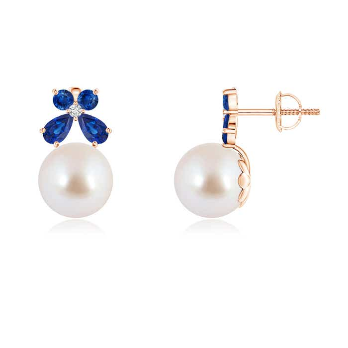 Angara Akoya Cultured Pearl Bow Earrings with Diamond Accents bYBjjnQe